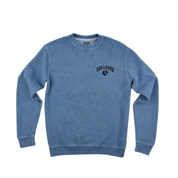 14- Sudadera Vintage azul sin capucha delantera